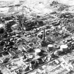 Korean War - HF-SN-98-07281 Chosen Oil Refinery at Wonsan
