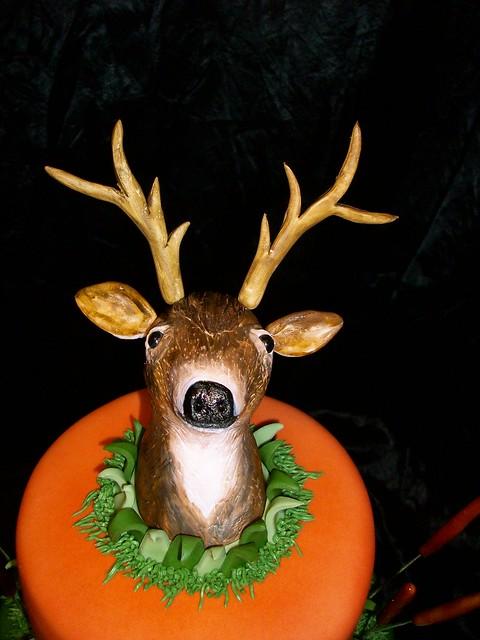 How To Make A Deer Head Cake Topper