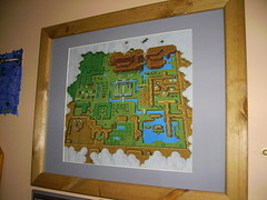 Zelda World Map Cross Stitch The World Map From The Legend Flickr
