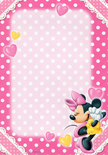 minnie mouse polka dot hearts envelope flickr photo