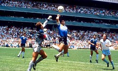 Maradona's infamous 'Hand of God'