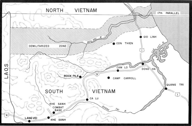 Map of DMZ and Khe Sanh