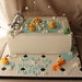 Bath tub cake with rubber duckies by Andrea's SweetCakes