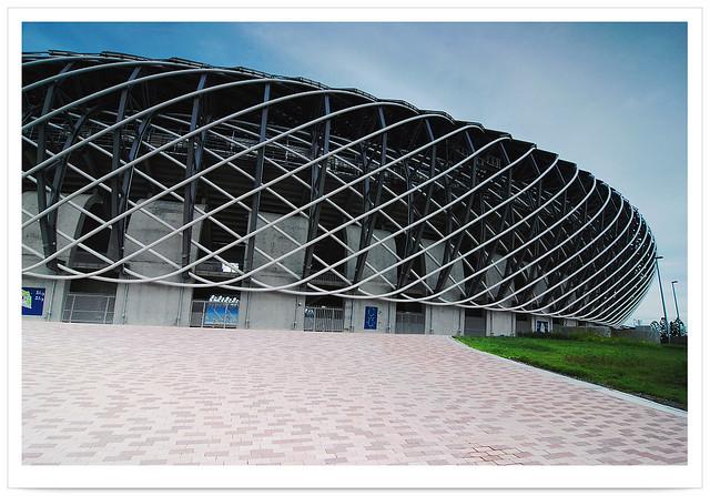 3028 台灣特色建築 國家體育館 設計師 伊東豊雄 Toyo Ito  * 高雄 左營 - 世界運動會 世運主場館*  The World Games 2009 in Kaohsiung - Main Stadium . Kaohsiung City . TAIWAN