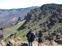 Haleakala National Park, Maui: Kalahaku Overlook - Nikki and Eileen