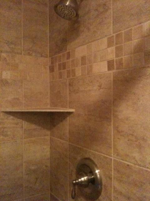 tub to shower conversion porcelain tile from homedepot