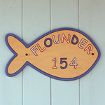 beach hut number 154 FLOUNDER