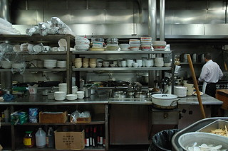 Tai Tung Chinese Restaurant Kitchen, stacked bowls, since 1935, Seattle, Washington, USA