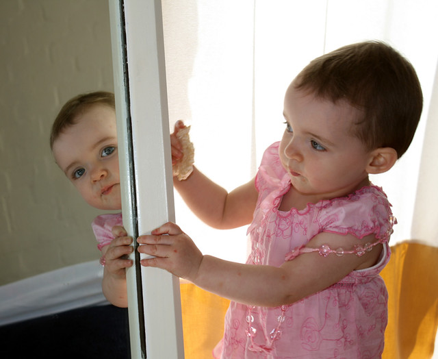 Image result for mirror with child