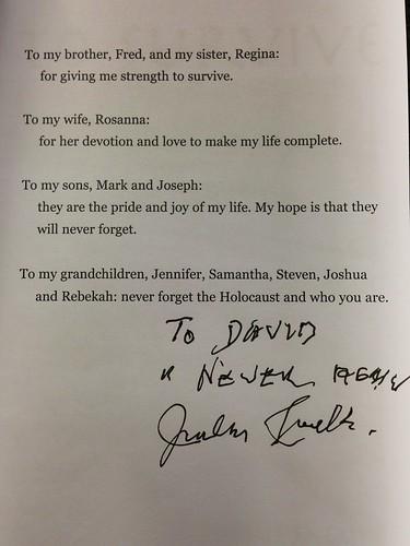 Julius Jacobs dedication page