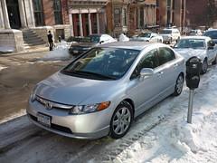 honda civic(0.0), automobile(1.0), automotive exterior(1.0), wheel(1.0), vehicle(1.0), rim(1.0), honda(1.0), bumper(1.0), honda civic hybrid(1.0), sedan(1.0), land vehicle(1.0), luxury vehicle(1.0),