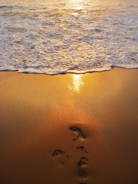footprints in sand sunset | Flickr - Photo Sharing!