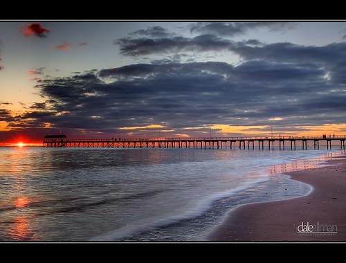 ocean sunset beach water clouds flow waves jetty adelaide canon5d southaustralia hdr 1740 henleybeach photomatix henleyjetty canon5dmark2