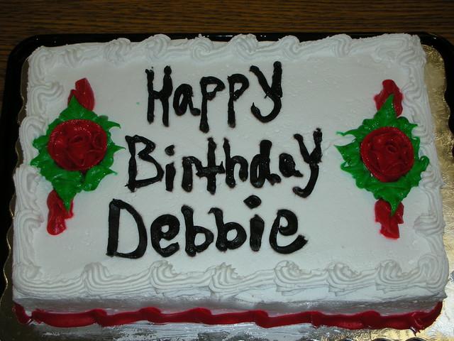 Happy Birthday Debbie Balloons And Cake