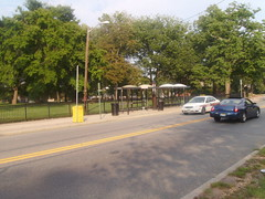 The local bus shelters