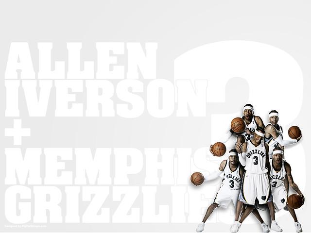 Allen Iverson/Memphis Grizzlies 1024x768 Wallpaper
