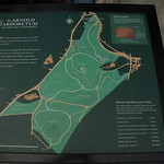 Arnold Arboretum: Map of the grounds at the Arborway Gate