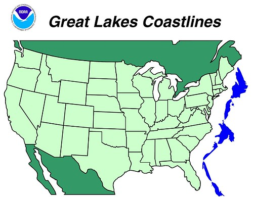 Comparison Map Of Great Lakes Shoreline With U S East Coa Flickr