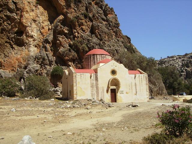 Agios Andonis church in Gorge Agiofaraggo, Heraklion