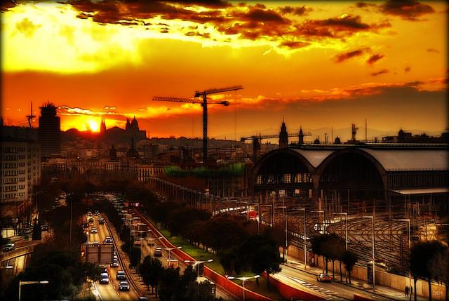 bcn sunset