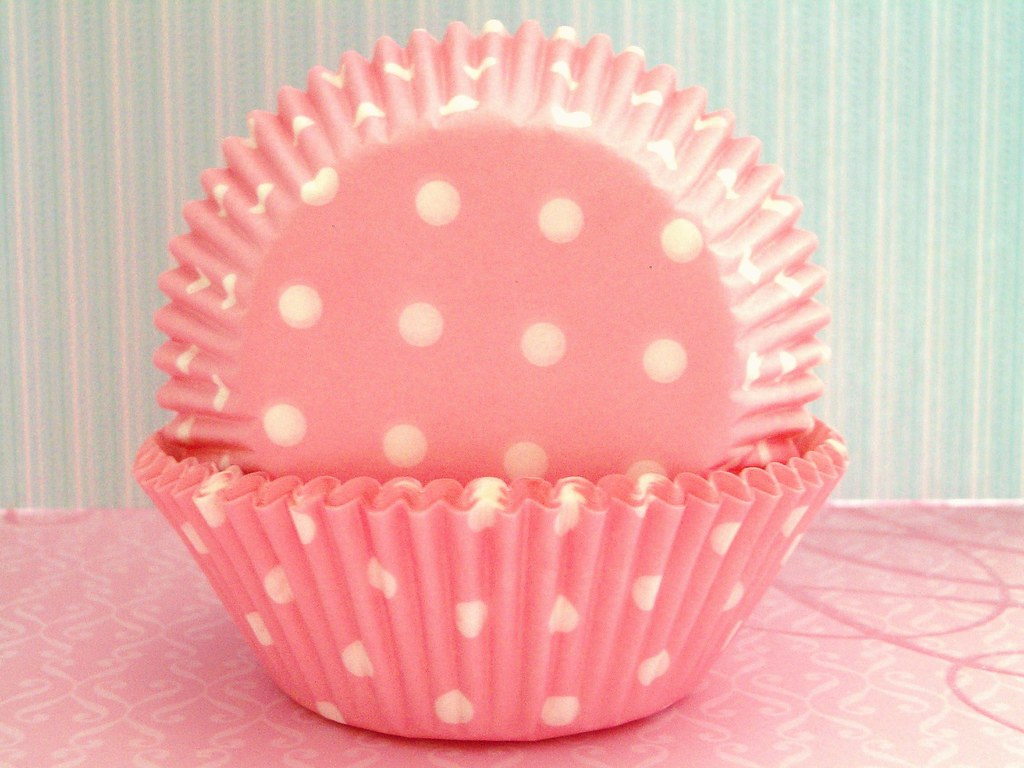 Pink And White Polka Dot Cupcake Liners Baking Cups Flickr