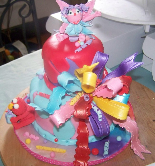 ABBY CADABBY & ELMO THEMED CAKE By: Sue Flickr - Photo ...