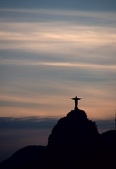 Christ Redeemer in silhouette