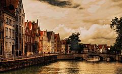 Canal scene in Bruges, Belgium
