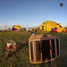 Wheater  is ok. Clear fot take off.  New fly at the Mondial Hot-Air balloons, Chambley, France