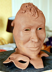 nose, carving, art, face, clay, skin, sculpture, head,
