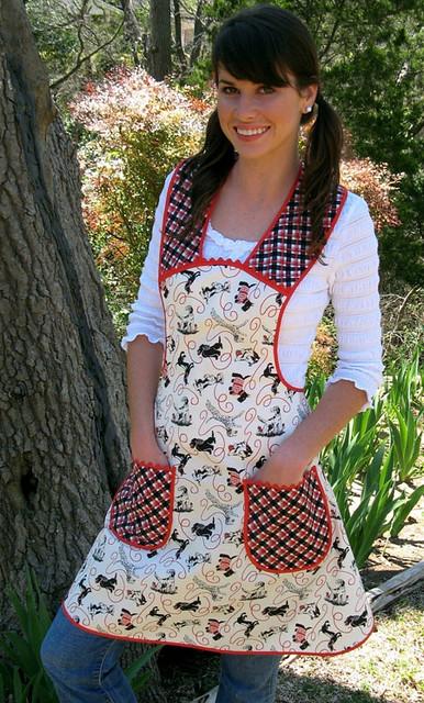 vintage housewife apron - momomadeit
