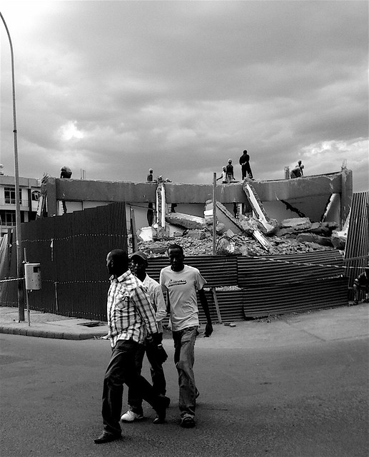 The old Kigali Post Office is almost gone