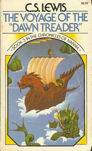 The Voyage of the Dawn Treader - Book 3 in The Chronicles of Narnia - C.S.Lewis - cover by Roger Hane by Cadwalader Ringgold