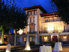 building, landscape lighting, palace, property, house, estate, mansion, resort, villa, facade, hacienda, home, lighting,