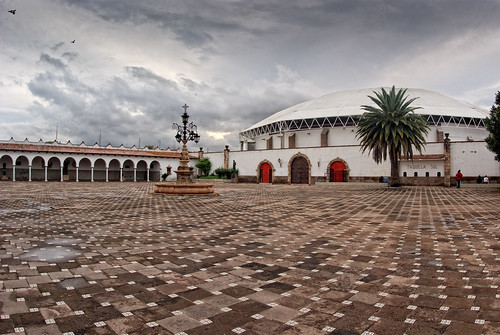 plaza sky panorama clouds mexico perspective panoramic fisheye cielo toros perspectiva 16mm nohdr taurino