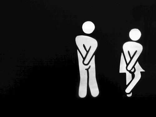 Serious Restroom Sign