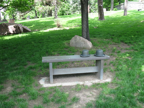 Wright Brothers Bench, Woodland Cemetery