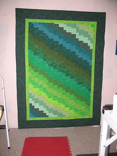 Cate A.'s bargello in greens