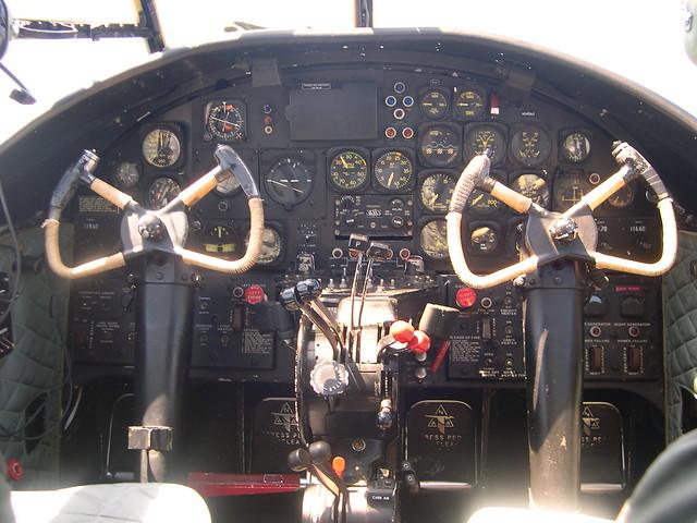 B-25 cockpit  inside a B-25  B25 Cockpit