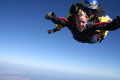 parachute(0.0), windsports(0.0), tandem skydiving(1.0), air sports(1.0), sports(1.0), parachuting(1.0), sports equipment(1.0), extreme sport(1.0),