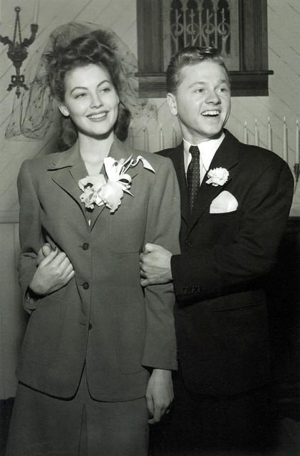 Ava Gardner & Mickey Rooney's wedding, 1942 | Flickr ...