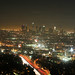 Downtown Los Angeles at night from above the Hollywood Bowl