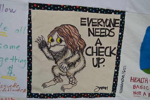 Everyone needs a check up (especially Where the Wild Things Are)  - Messages to Senator Feinstein on health care reform