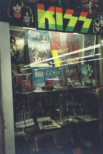 Rare Kiss Merchandise Display @ Colony Records