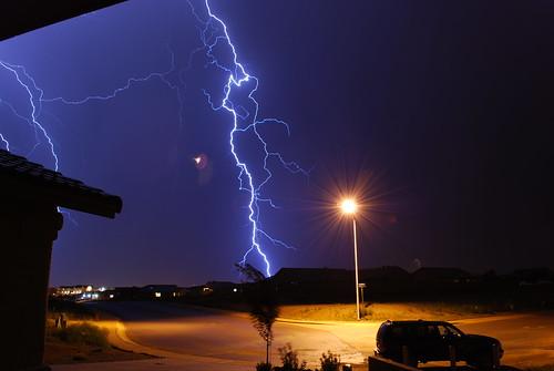 arizona rain night bolt strike lightning sierravista