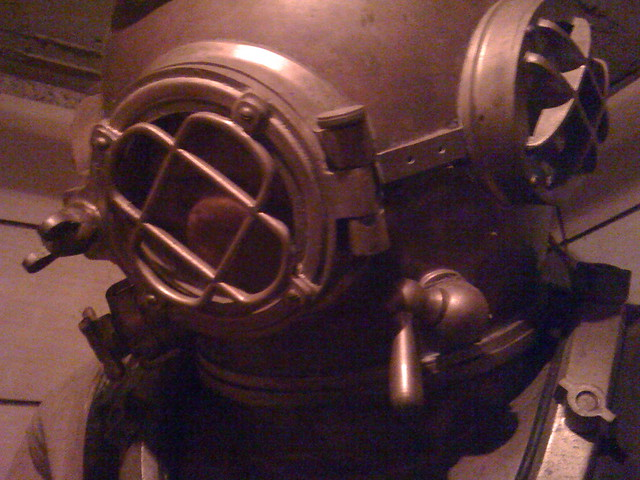 Forbe 39 s old underwater suit in the submarine airlock at th flickr photo sharing - Underwater airlock ...