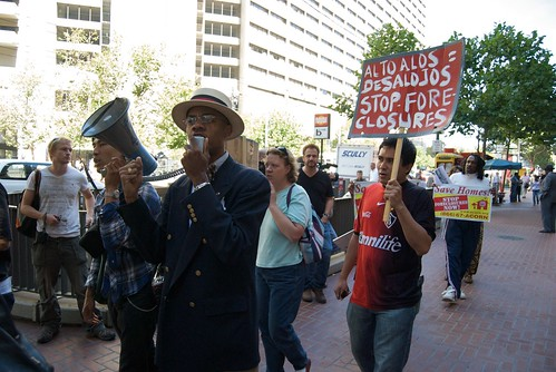 Foreclosure protest at San Francisco Federal Reserve Bank