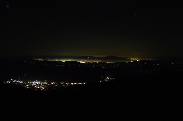 Photo:night view from Karamatsu mountain lodge By tsuda