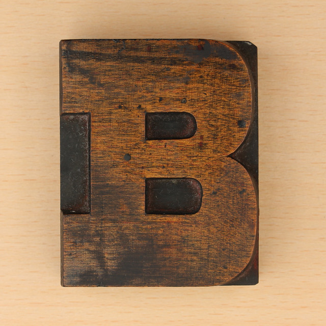 wood type letter B