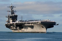 In this file photo, Nimitz-class aircraft carrier USS Carl Vinson (CVN 70) arrives at Joint Base Pearl Harbor-Hickam for a port visit, June 7, 2011. Vinson is one of six U.S. Navy ships secheduled to take part in San Francisco Fleet Week this year.(U.S. Navy photo by Mass Communications Specialist 2nd Class Jon Dasbach)